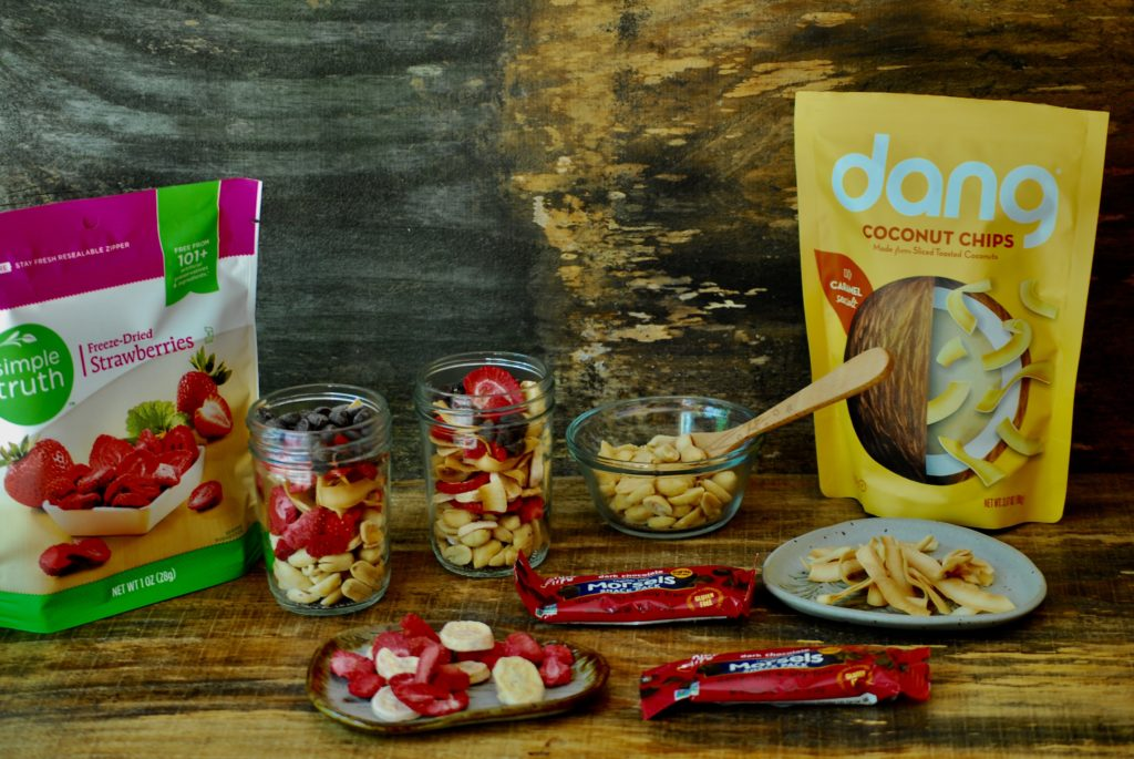 Nutrition Snacks for Travel with a nut free trail mixture.