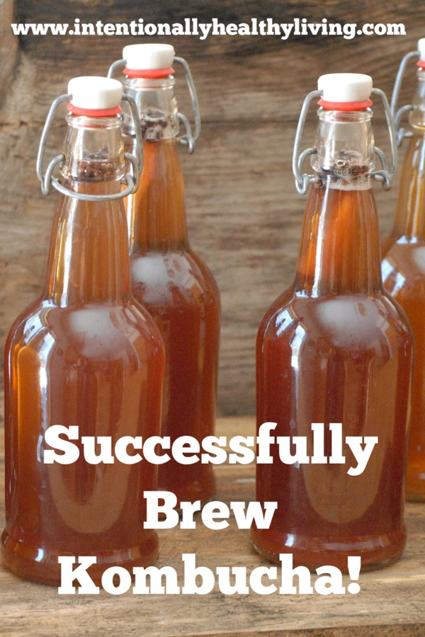 Successfully brewng Kombucha from your home. Visit www.intentionallyhealthliving.com