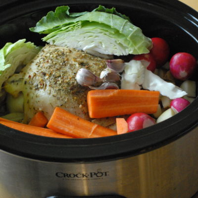 Crock Pot Roasted Chicken & Vegetables