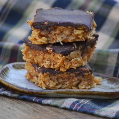 Oatmeal Peanut Butter Chocolate Chewy Bars
