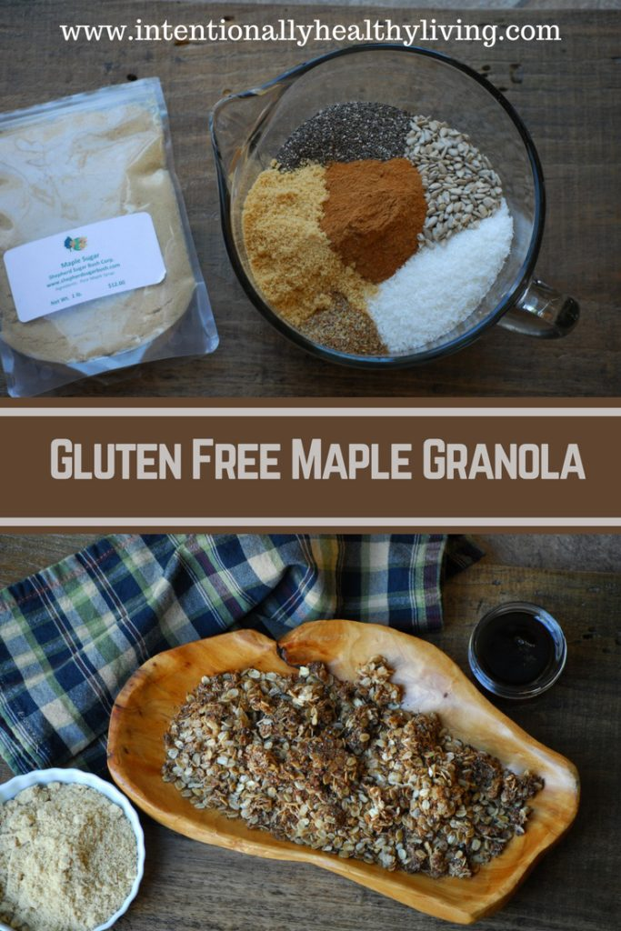 Enjoy this mildly sweetened nutritious granola as a snack or breakfast food.