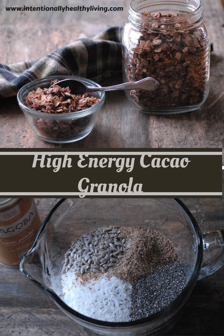 High Energy Cacao Granola by Intentionally Healthy Living.com