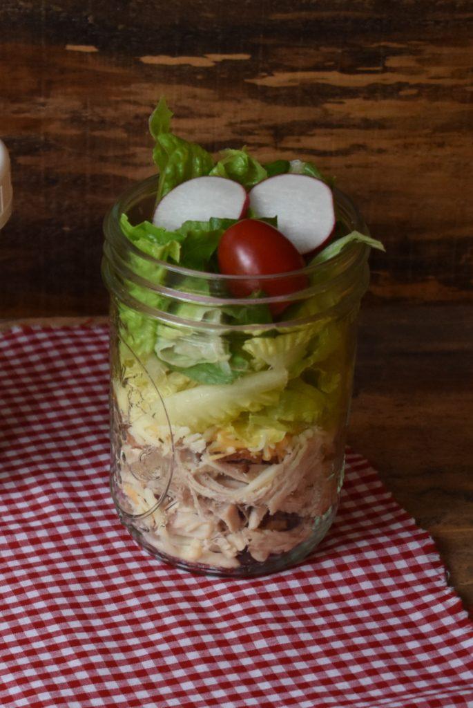 Paleo Jar Salad chicken