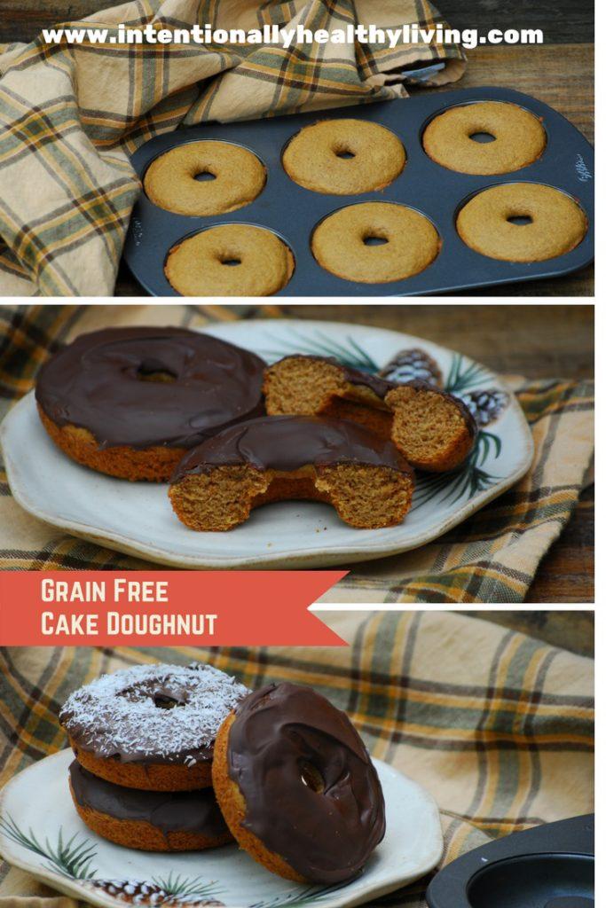 Grain-Free, Corn Free & Tree nut flour Free Cake Doughnuts.