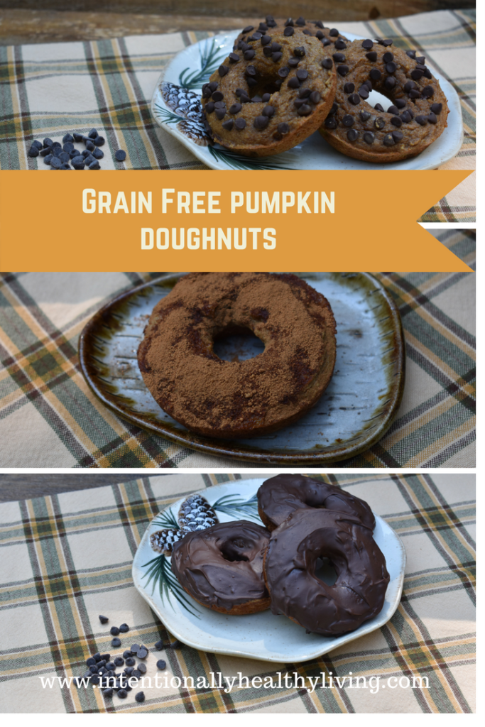 Grain Free pumpkin doughnuts at www.i tentionallyhealthyliving.com