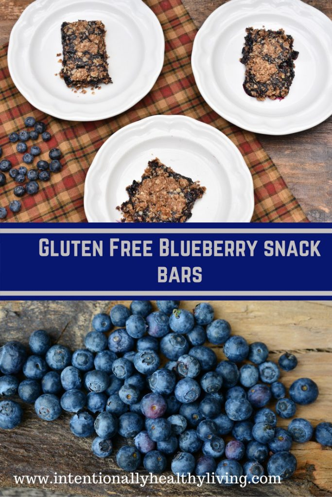 Gluten Free Blueberry Bars at www.intentionallyhealthyliving.com