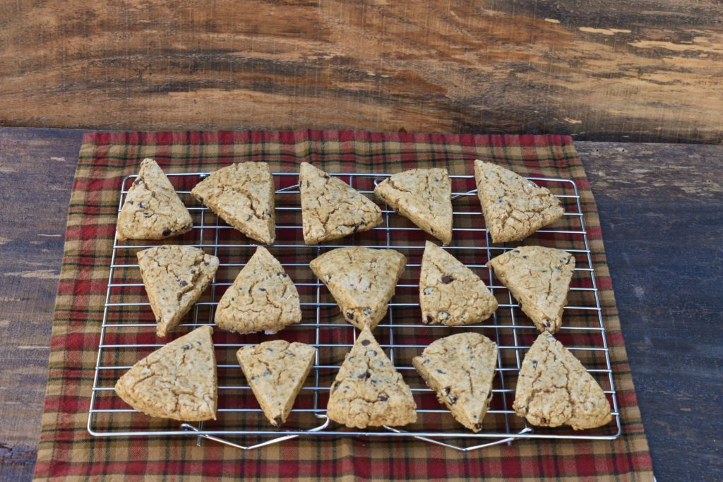 cooling grain free chocolate chip scones