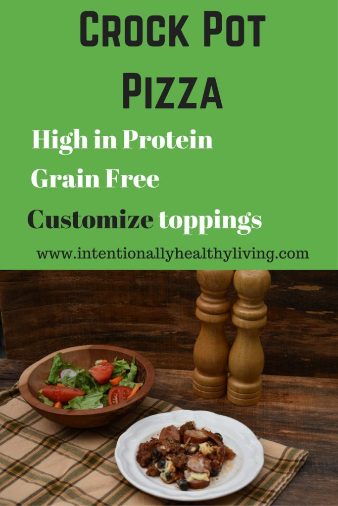 Grain Free Crock Pot Pizza by www.intentionallyhealthyliving.com