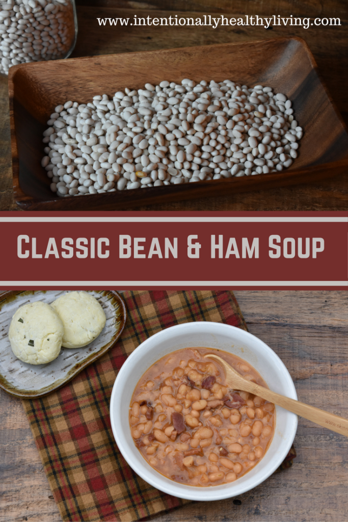 Classic Bean and Ham Soup by www.intentionallyhealthyliving.com