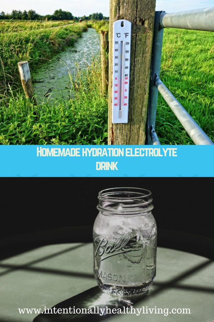 Homemade Hydration Electrolyte Drink by www.intentionallyhealthyliving.com